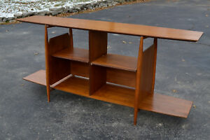 Vintage Mid Century Stereo Media Credenza Shelf Console Stand