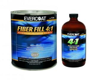 Evercoat 736 Fiber Fill 4 1 Reinforced Polyester Primer Gallon W Activator 736