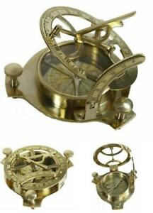Street Craft 4 Sundial Compass Solid Brass Sundial Home Office Decor Collection