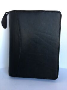 Franklin Quest Compact Black Nappa Leather Planner With Inserts