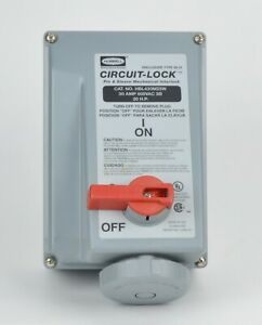 Hubbell Circuit Lock Hbl430mi5w 30 Amp 600vac 20 Hp Pin And Sleeve Outlet