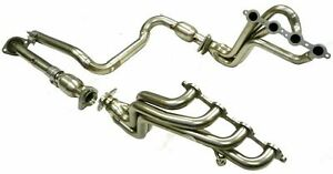 Maximizer Long Tube Header For 00 05 Hummer H 2 Silverado Ss Gmc Truck 2500 6 0l