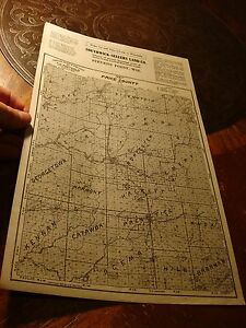 Southwick Sellers Land Co Antique Stevens Point Wi Price County Map