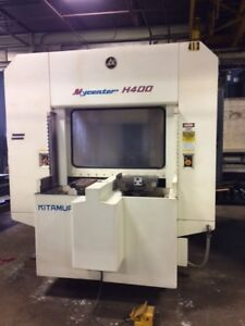 Hmc Cnc Kitamura H400 Horizontal Machining Center Fanuc15m Full 4th 100 Atc