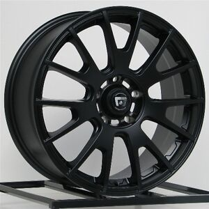 17 Inch Wheels Rims Black Honda Accord Civic Fits Nissan Altima Toyota Camry 4