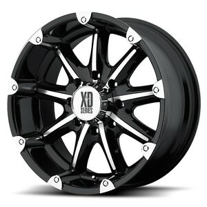 20 Inch Black Wheels Rims Chevy Gmc Truck Tahoe 5 Lug Jeep Wrangler Jk Xd Set 4
