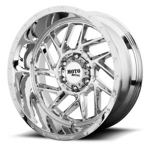 20 Inch Chrome Wheels Rims Chevy Silverado 2500hd 2011 2019 Moto Metal Mo985 New