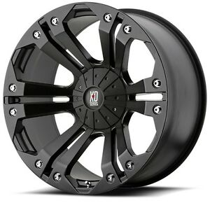 20 Inch Black Wheels Rims Lifted Chevy 2500 3500 Dodge Ram Ford Truck Hummer H2