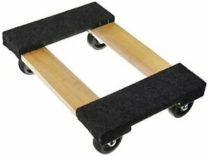 Hardwood Mover s Dolly W Rubber Swivel Casters For 1000lbs Furniture Appliance