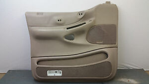Oem 97 02 Ford Expedition Beige Tan Front Driver s Side Door Panel Card Lh