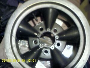 14x6pair Of 14x 7mag Wheels Rims 5x4 75 Chevy Vintage Drag Race