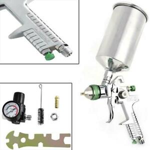 Hvlp Spray Gun Kit Auto Basecoat Clearcoat Air Paint Regulator 2 0 Nozzle 1l Cup