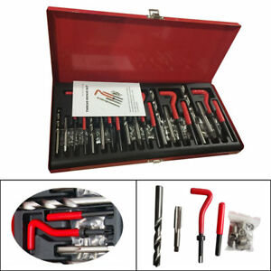 M5 M12 Repair Tool Kit 131pc Stripped Thread Rethread Helicoil Drill Steel