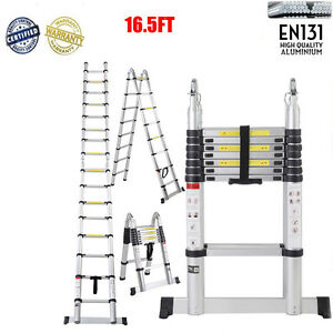 16 step Dual Joints Aluminum Extendable Stretchable Ladder Extension Foldable