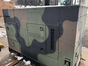 2005 30kw Militart Diesel Generator Mep 805b Continuous Run Tactical Quiet 3 1ph