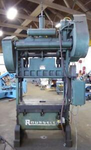 Rousselle 60 Ton Straight Side Double Crank Press No 6ss44 30045
