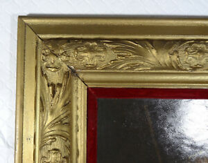 Large Antique Wood Frame Carved French Gold 26 X29 Rembrandt Oil Paint