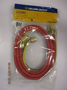 Yellow Jacket 22985 3 Pack 60 Refrigeration Hoses With sealright Fitting