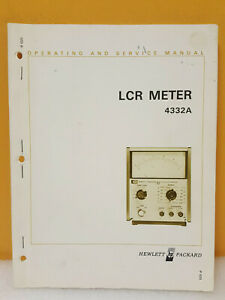 Hp Agilent 04332 99003 4332a Lcr Meter Operating And Service Manual