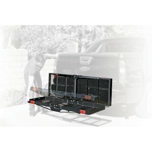 750 Lb Capacity Heavy Duty Hitch Mount Folding Cargo Carrier