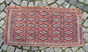 Fabulous Antique Turkoman Tekke Tribal Collector S Piece Kilim Bag Face Rug