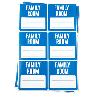 Family Room Moving Box Stickers Blank Memo Note Home Packing Labels 3 x3 2pk