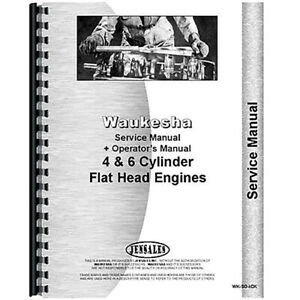 Waukesha 130 gs 130 gl Engine Service Operators Manual