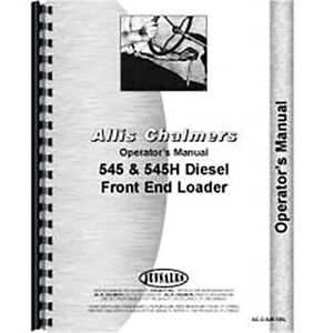 Operator s Manual For Allis Chalmers 61a Cultivators