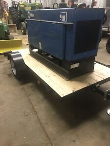 Diesel Miller Big 40 Welder Generator With Leads And Trailer