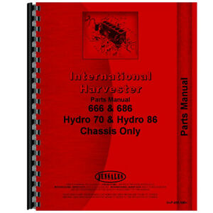 New International Harvester 686 Tractor Chassis Only Parts Manual