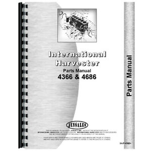New International Harvester 4386 Tractor Parts Manual chassis Only