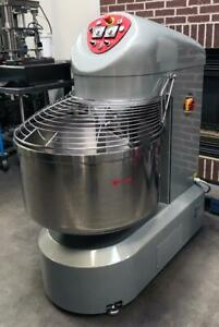 Lp Group Vis r 120 120kg Industrial Bakery Fixed Bowl Spiral Dough Food Mixer