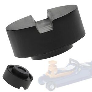 Rubber Slotted Floor Jack Pad Black Frame Rail Adapter For Pinch Weld Side Pad