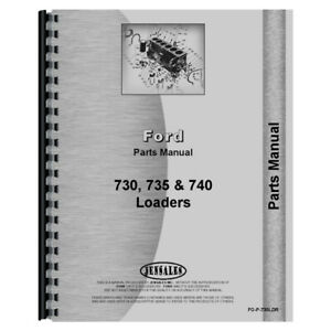 Tractor Loader Backhoe Parts Manual For Ford New Holland 730 735 740