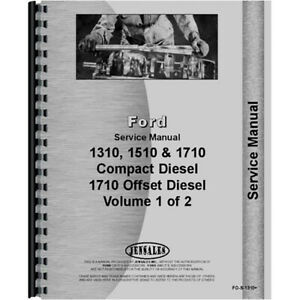 Service Shop Manual For Ford 1710 Compact Tractor