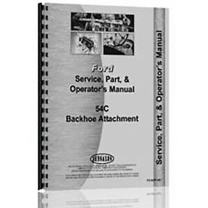 New Ford Sherman 54c600 6010 Service Operator Parts Manual