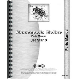 Parts Manual Made For Minneapolis Moline Tractor Model Jet Star Iii