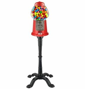 Gumball Machine For Kids With Stand Vintage Candy Bank Dispenser Vending Coins