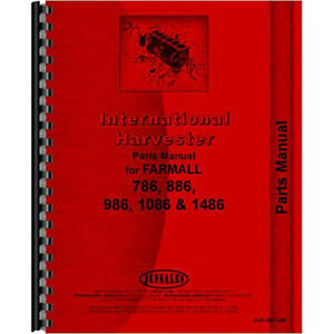 New International Harvester 1086 Tractor Chassis Only Parts Manual