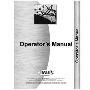 New International Harvester 460 Tractor Operators Manual 2 Point Fast Hitch