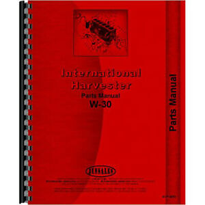 New Mccormick Deering W30 Tractor Parts Manual
