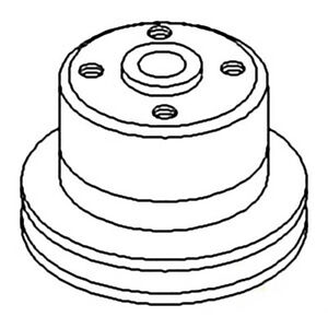 Sba145336540 Water Pump Pulley For Ford New Holland Compact Tractor 1710