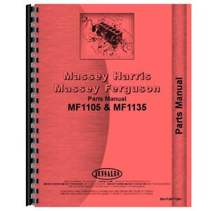 New Massey Ferguson 1105 Tractor Parts Manual