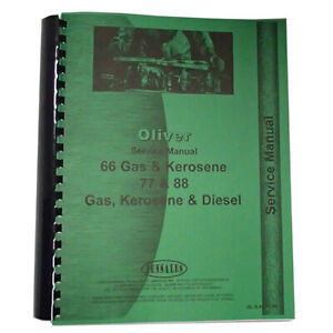 New Oliver 66 Tractor Service Manual