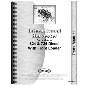 New International Harvester 724 Tractor Parts Manual