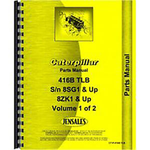 For Caterpillar 416b Tractor Loader Backhoe Parts Manual new