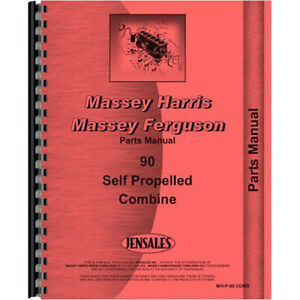 New Massey Harris 90 Combine Parts Manual