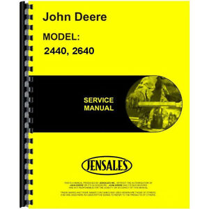 Service Manual For John Deere 2440 Tractor includes 2 Volumes