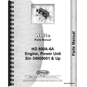 Parts Manual Made For Minneapolis Moline Power Unit Model 800a6a