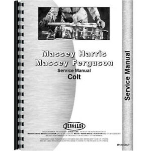 New Massey Harris Colt Tractor Service Manual